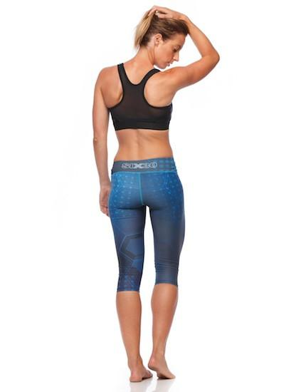 SIX30 Compression tights 3/4 COMPRESSION TIGHTS - BLUE ILLUSION
