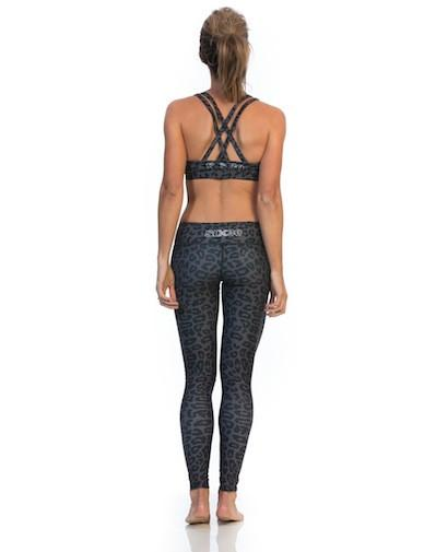 SIX30 Crop Top CHARCOAL CHEETAH SPORTS BRA