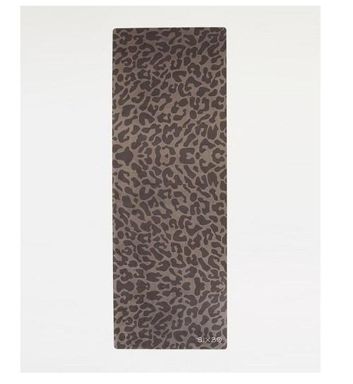 CHARCOAL CHEETAH SUEDE YOGA MAT - Be Activewear
