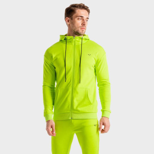 Squat Wolf Hoodies CORE ZIP UP – NEON