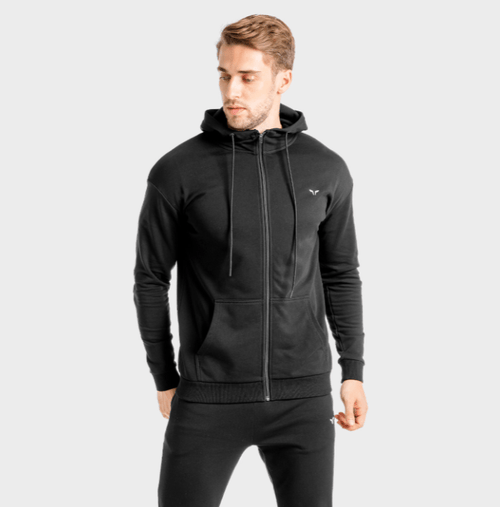 Squat Wolf Hoodies CORE ZIP UP – ONYX