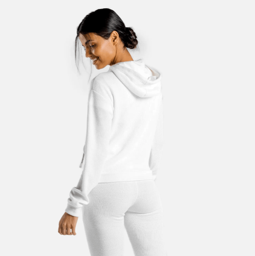 Squat Wolf Hoodies LUXE ZIP UP – WHITE