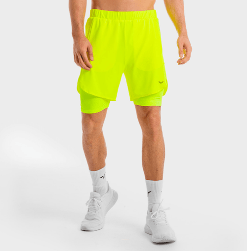 Squat Wolf Shorts CORE MESH 2-IN-1 SHORTS – NEON