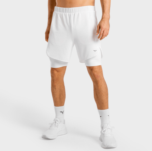 Squat Wolf Shorts CORE MESH 2-IN-1 SHORTS – WHITE