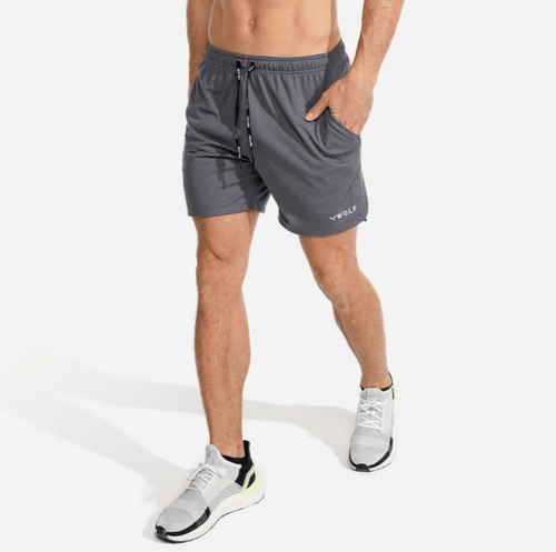 Squat Wolf Shorts EVOLVE GYM SHORTS – GREY
