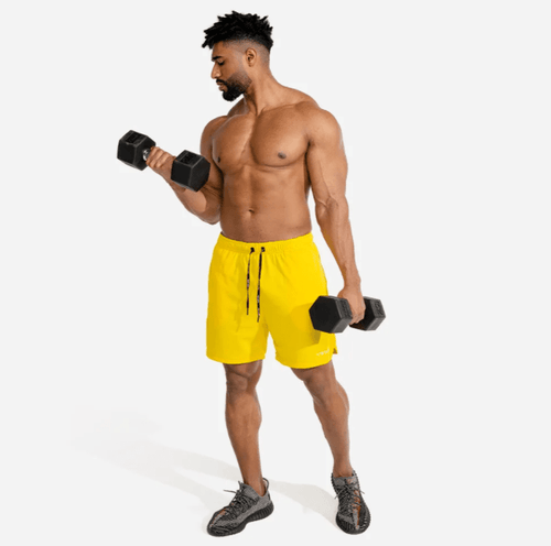 Squat Wolf Shorts EVOLVE GYM SHORTS – YELLOW
