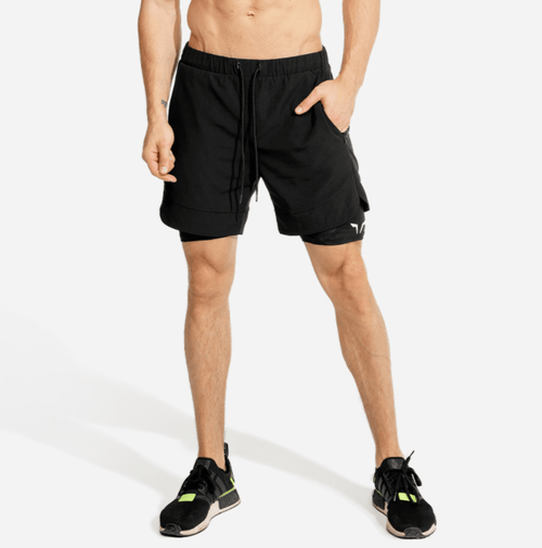 Squat Wolf Shorts LIMITLESS 2-IN-1 SHORTS – BLACK AND BLACK
