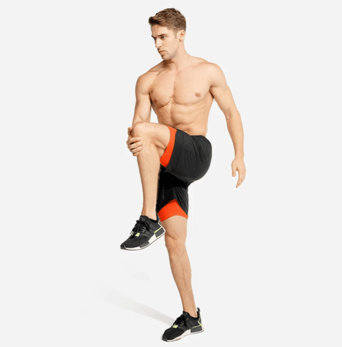 Squat Wolf Shorts LIMITLESS 2-IN-1 SHORTS – BLACK/ORANGE
