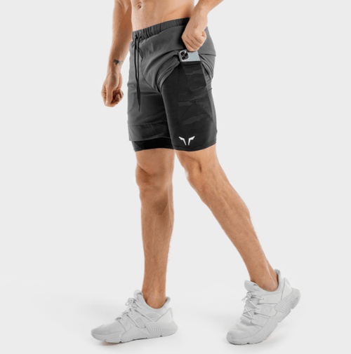 Squat Wolf Shorts LIMITLESS 2-IN-1 SHORTS – CHARCOAL AND BLACK