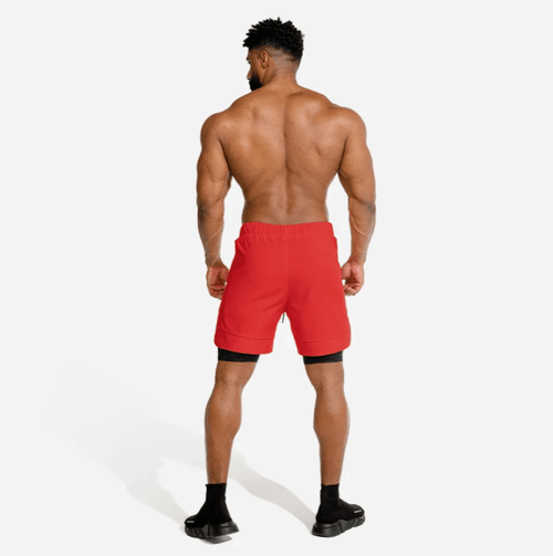 Squat Wolf Shorts LIMITLESS 2-IN-1 SHORTS – ORANGE