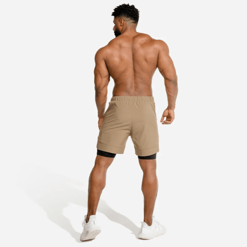 Squat Wolf Shorts LIMITLESS 2-IN-1 SHORTS – TAUPE