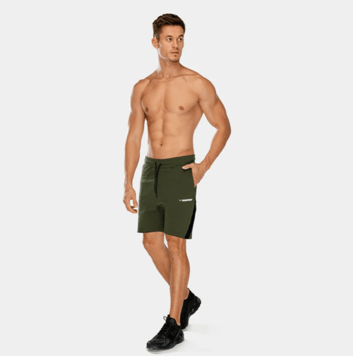Squat Wolf Shorts WARRIOR PANEL SHORTS – OLIVE