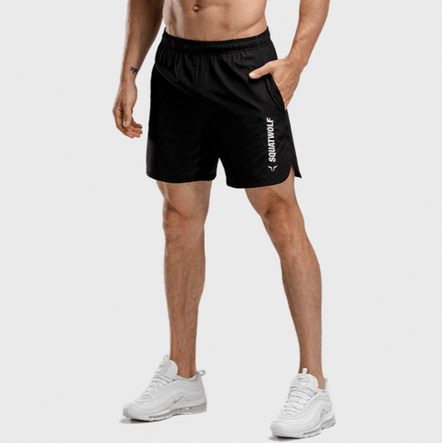 Squat Wolf Shorts WARRIOR SHORTS – BLACK