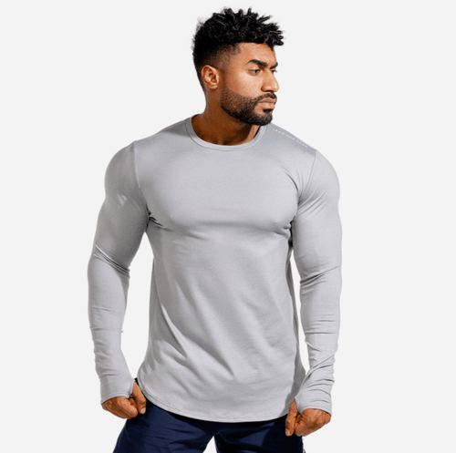 Squat Wolf Tee STATEMENT MUSCLE TEE – GREY