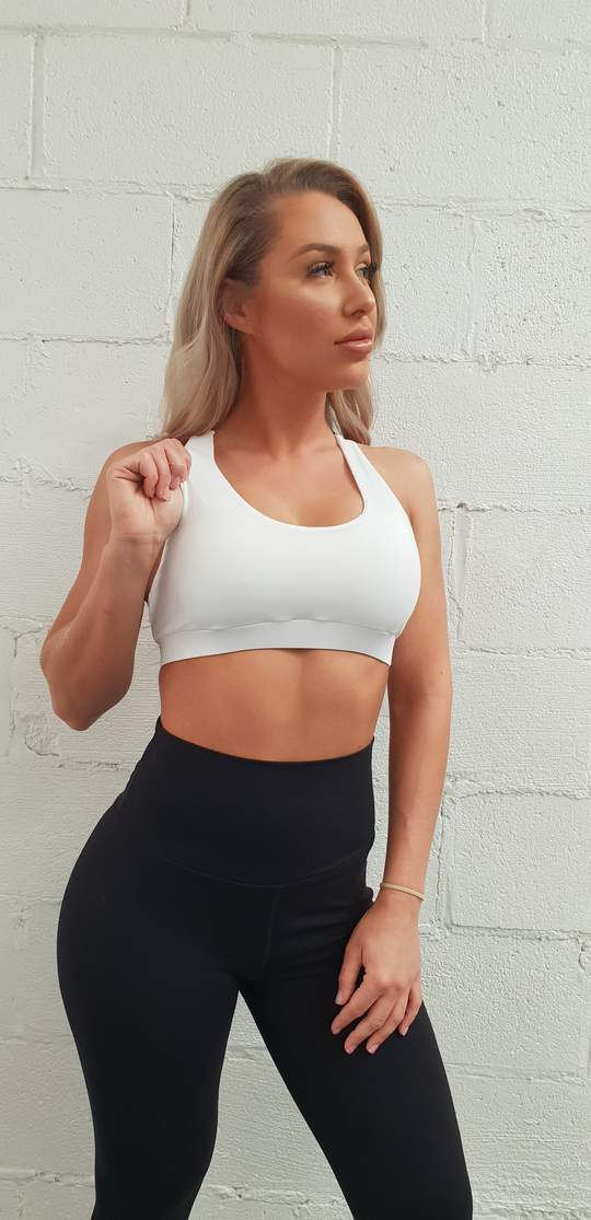 SPORTS BRA - CORE VALUES - White - Be Activewear