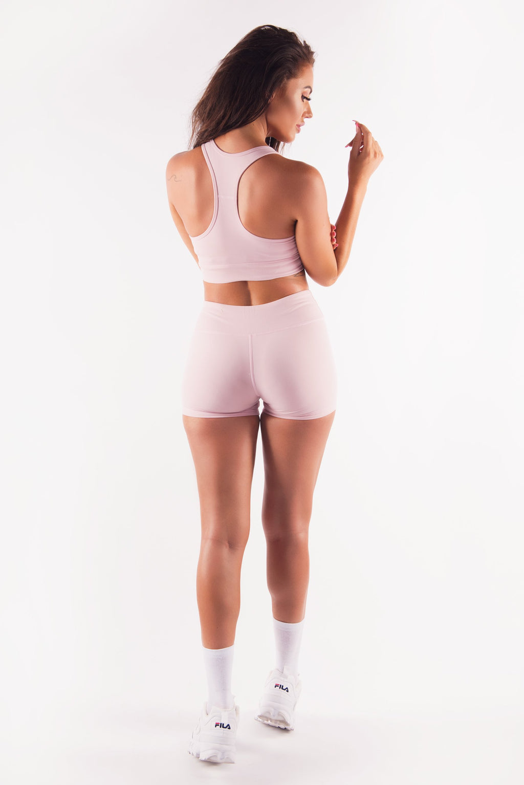 Three End Apparel Crop Tops XS HYPED SPORTS BRA - DUSTY PINK