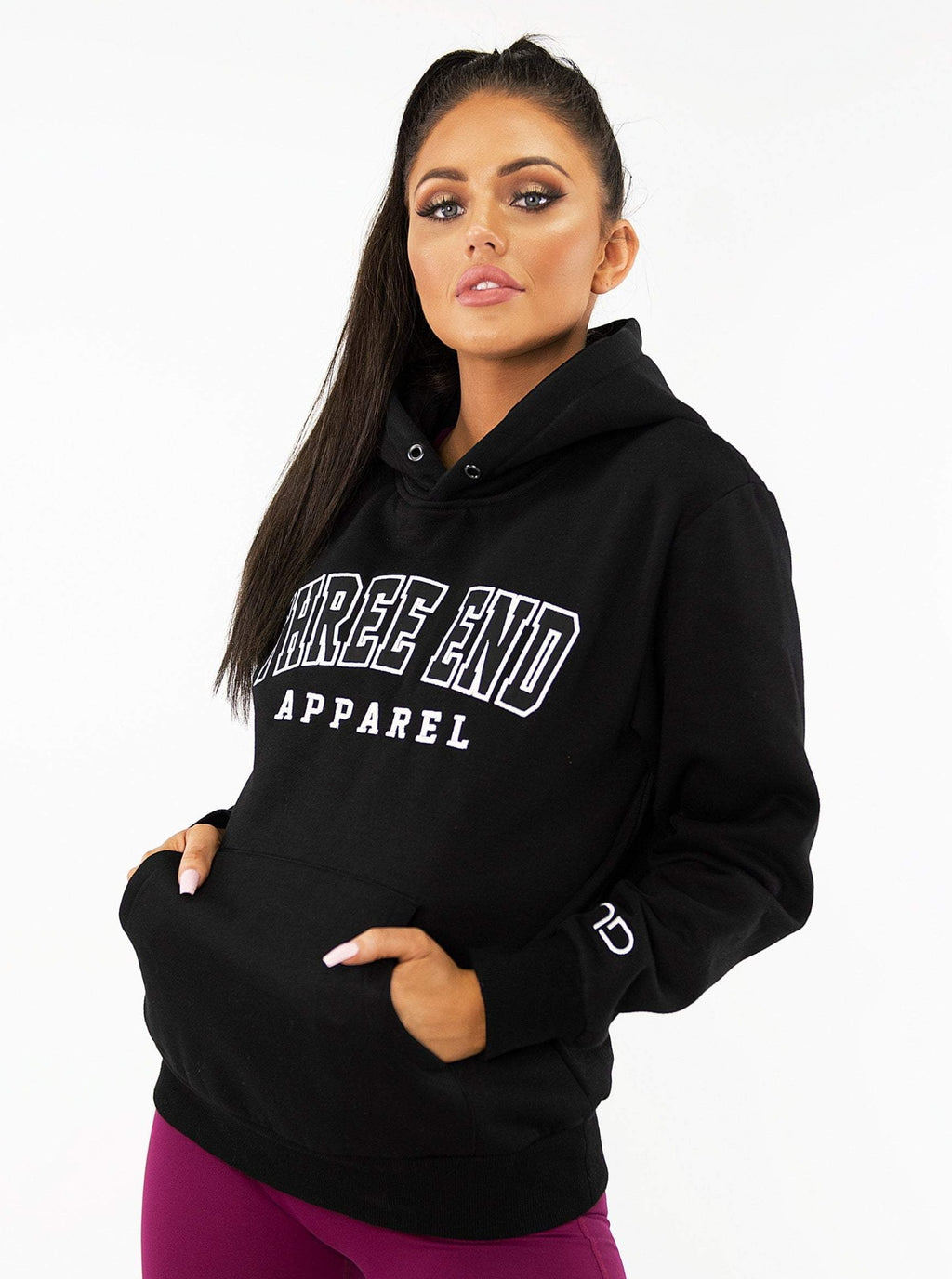 COLLEGE HOODIE - BLACK - Be Activewear