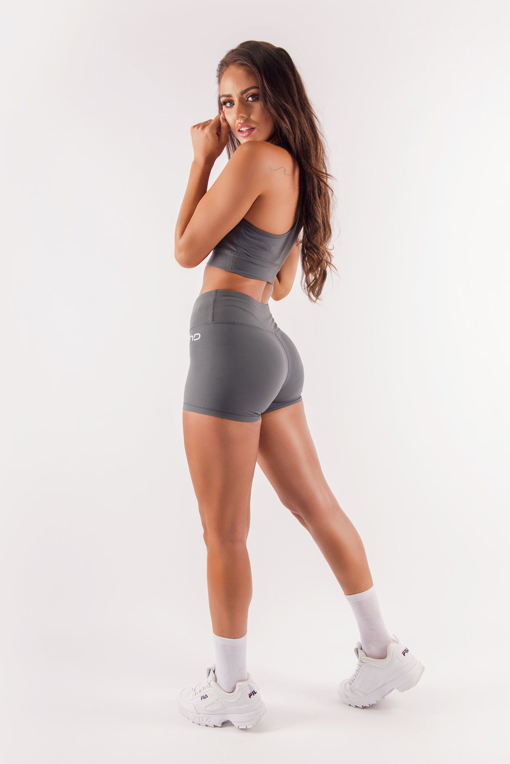 Three End Apparel Shorts XS HYPED BOOTY SHORTS - CHARCOAL