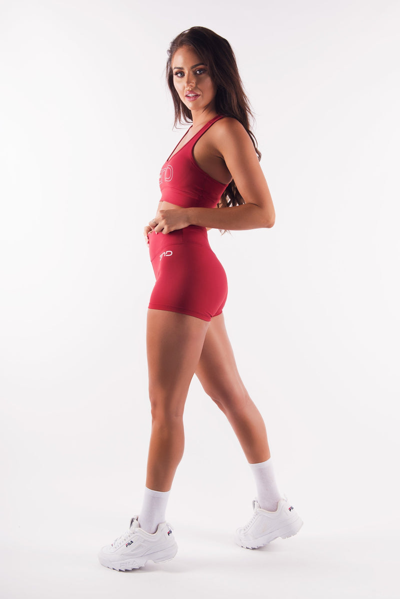 HYPED BOOTY SHOTS - DEEP RED - Be Activewear