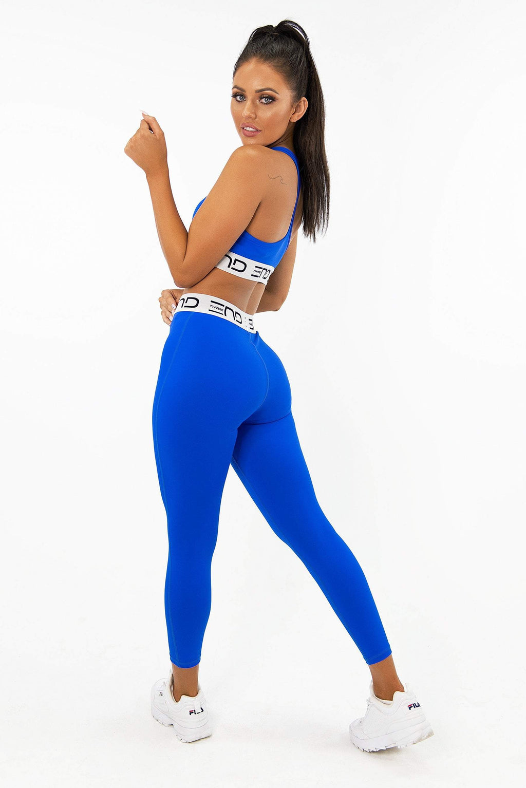 Three End Apparel Tights XS TRACK HIGH WAIST LEGGINGS - ELECTRIC BLUE