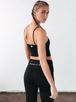 Viper Mesh Accent Tights Black - Be Activewear