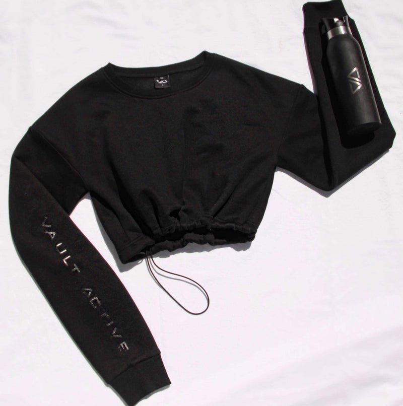 Stacey Toggle Black Logo - Be Activewear