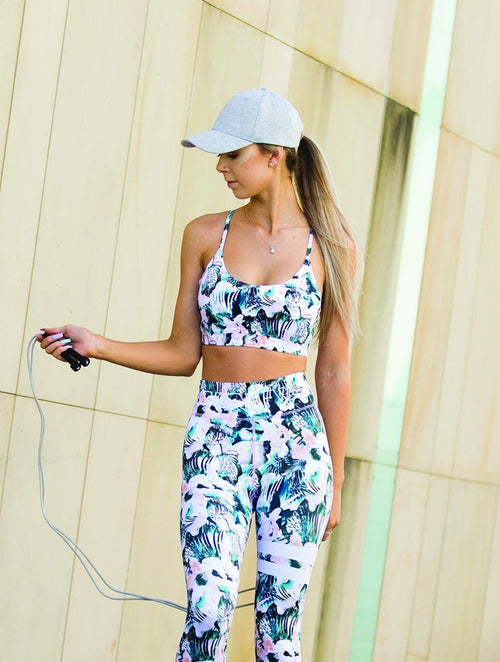 We Are Found Active Crop Tops Brooklyn crop top - Kokomo print