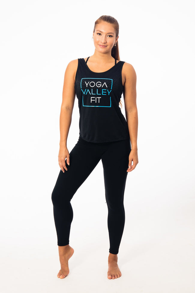 Yoga Valley Fit Tights Copy of The Long Black High-Waisted Pocket Leggings