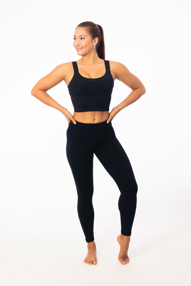 Yoga Valley Fit Tights The Long Black High-Waisted Pocket Leggings