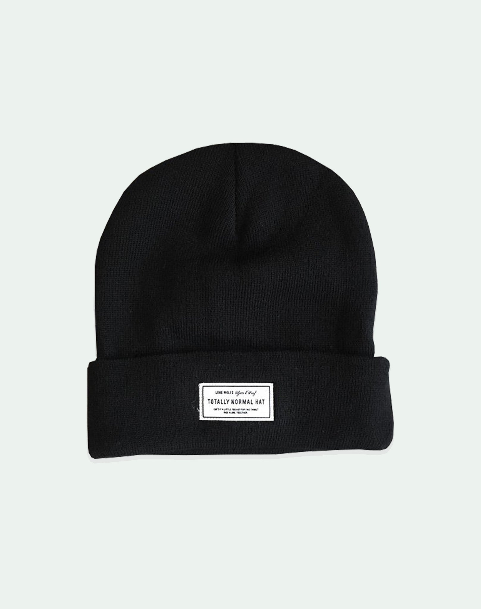 Lone Wolfs Totally Normal Hat - black - Beanie