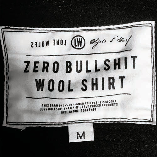 LONE WOLFS ZERO BS WOOL SHIRT