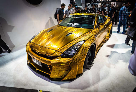 Hand-Carved Nissan GTR Gold (Powered by PlatinumPlus JapanWifiBuddy)