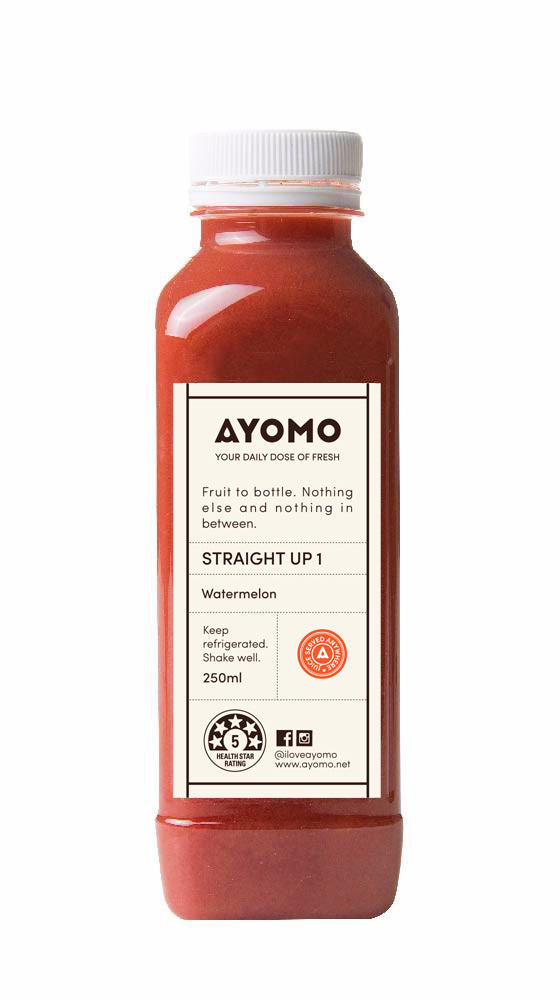 Straight Up 1 - Watermelon Cold Pressed Juice