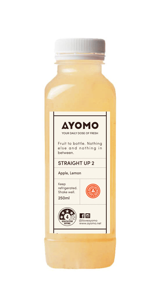 Straight Up 2- Apple & Lemon Cold Pressed Juice