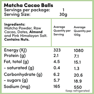 Matcha Cacao Balls -  - Raw Treats - Ayomo - 2