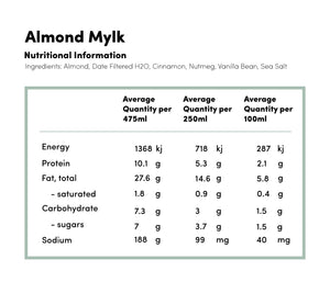 Almond Mylk - Cold Pressed Juice -  - Coldpressed Juice - Ayomo - 2