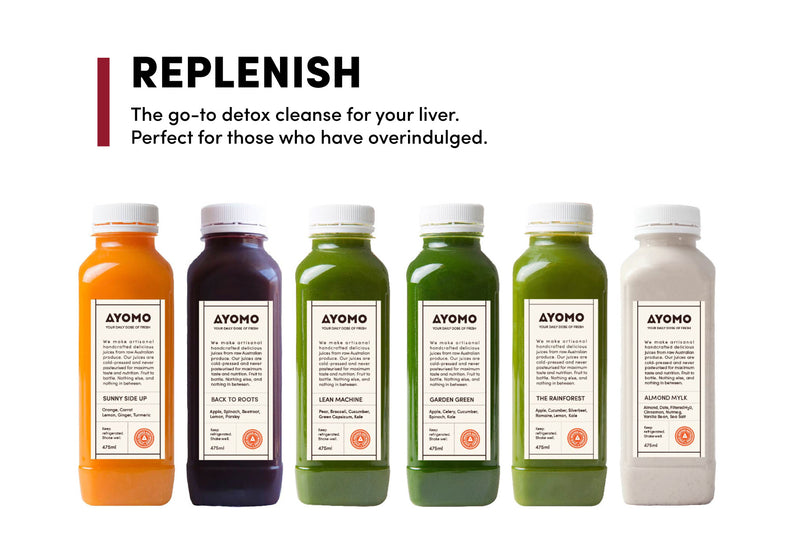 Replenish - Cold Pressed Juice Cleanse -  - Juice Cleanse - Ayomo - 1