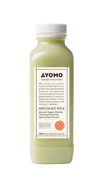 Matcha Maiden Nut Mylk - Cold Pressed Juice -  - Coldpressed Juice - Ayomo - 1
