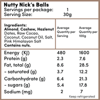 Nutty Nick's Balls -  - Raw Treats - Ayomo - 2