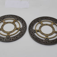 02-07 Honda Cb900f Front Left Right Brake Rotors Discs 45120-mcz-013