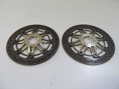 01-05 Honda Super Hawk 1000 Front Left Right Brake Rotors Discs