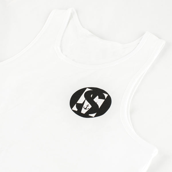 White 100% soft cotton singlet