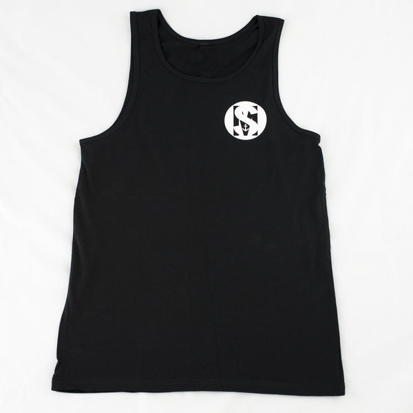 Black 100% cotton singlet with SAILORMADE logo on the front.