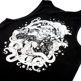 Black 100% cotton singlet with street artist OX KING design on back