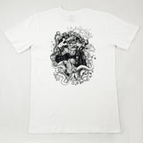 White SAILORMADE short sleeve cotton t shirt with OXKING design