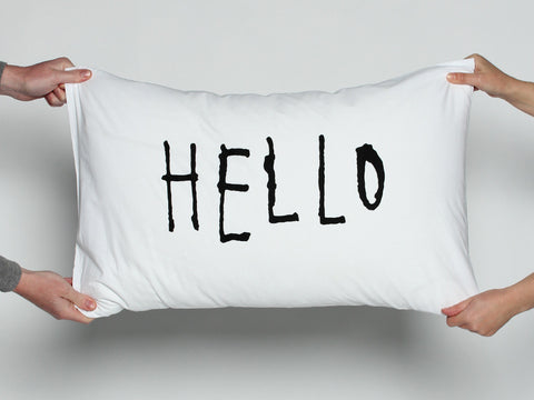 Hello Pillowcase Set