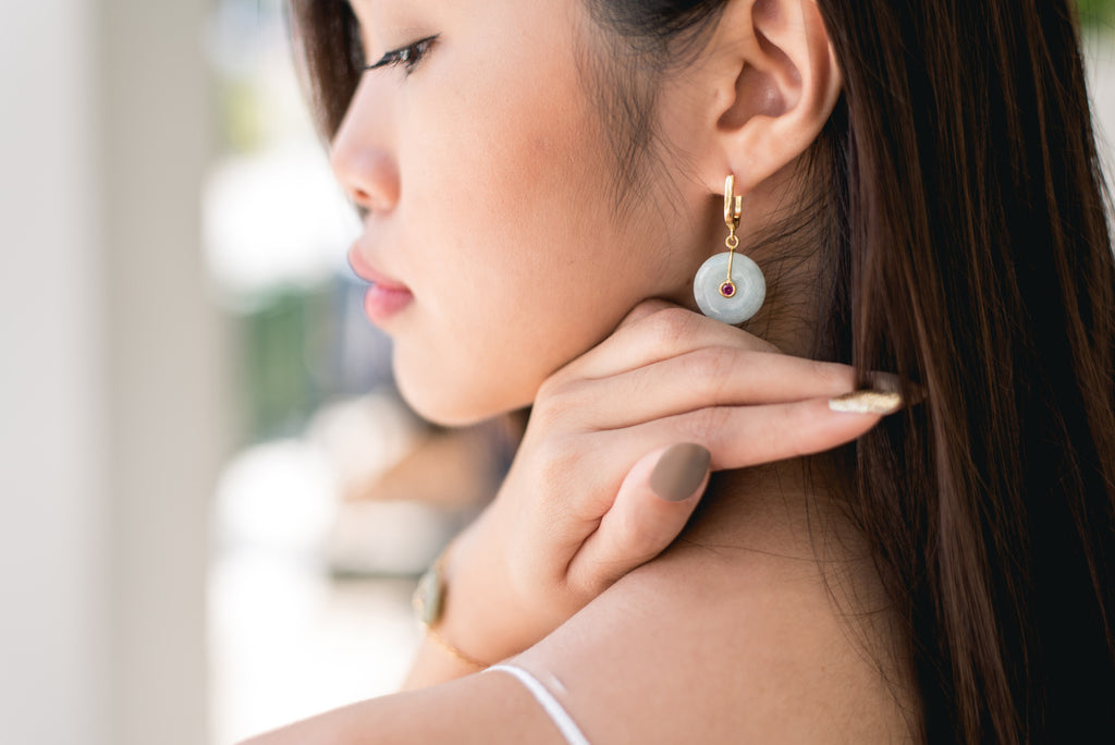 Choo Yilin Jade Jewellery Singapore Designer Classic Jade Hooks Earrings
