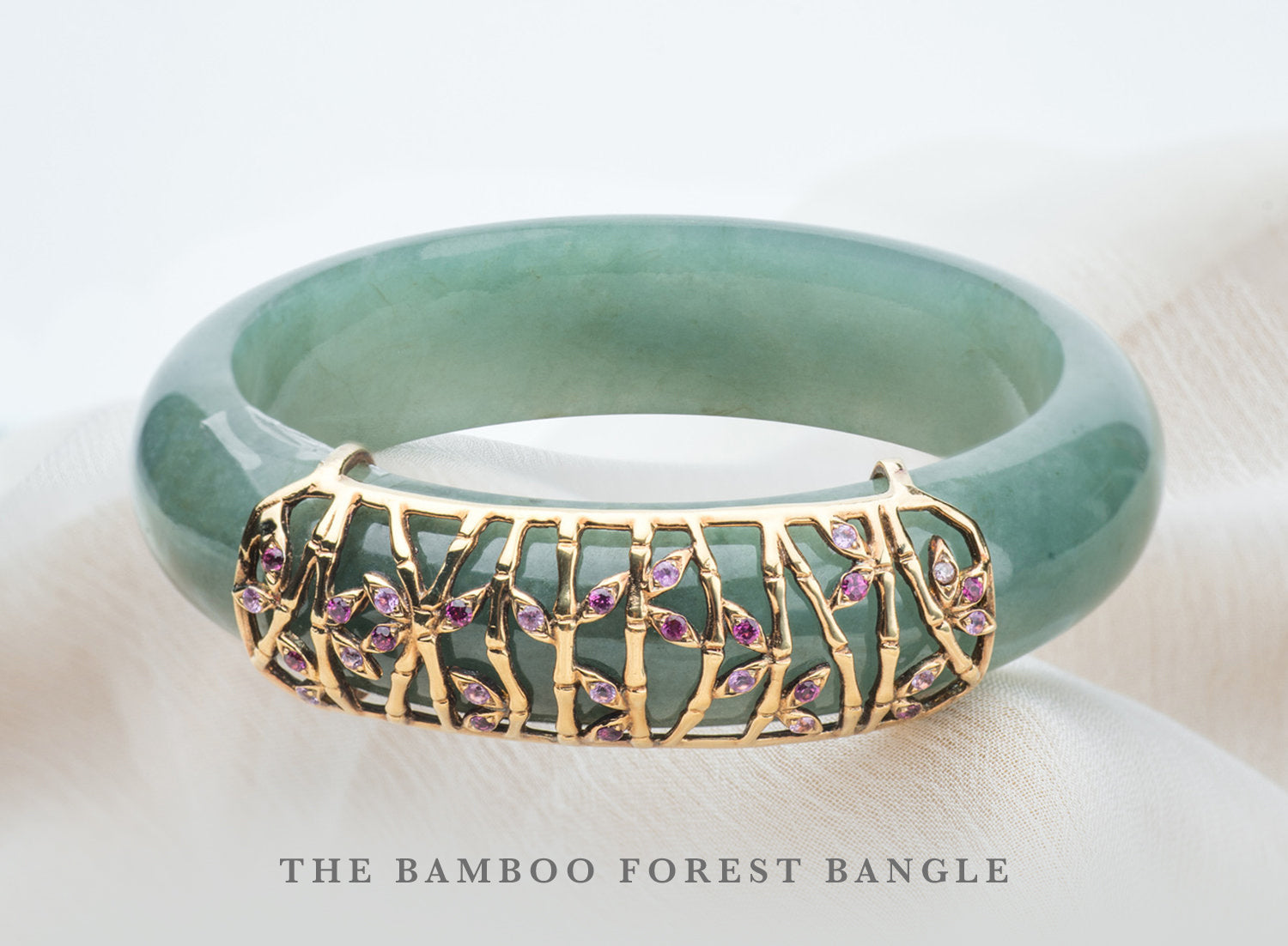 Bamboo Forest Jade Bangle
