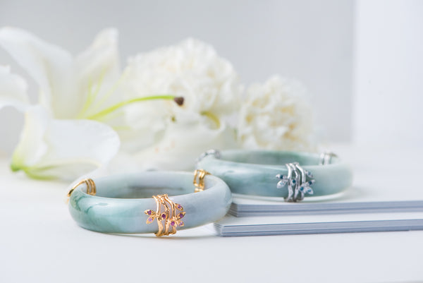 Choo Yilin Bamboo Trio Jade Bangle