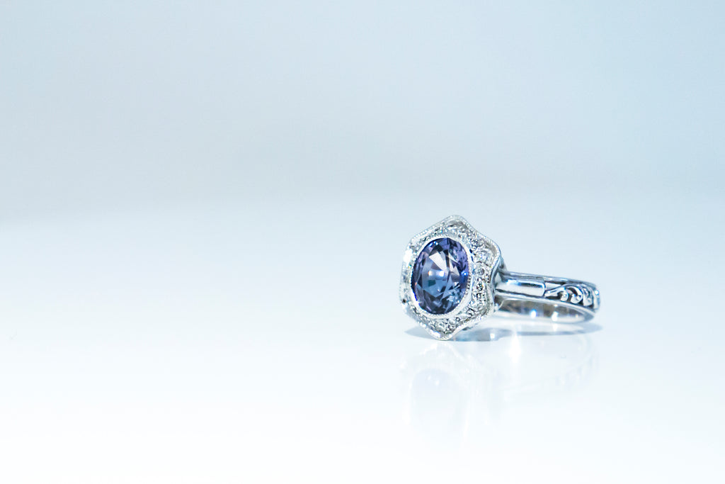 Choo Yilin Jade Jewellery Singapore Designer Bespoke Custom Engagement Sapphire Ring